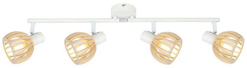Stropní lampa Atarri 4X25W E14 bílá + dřevo
