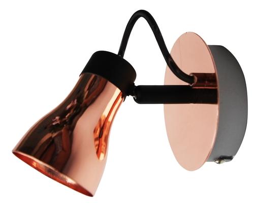 Nástěnná lampa Angus 1X50W Gu10 černá + měď