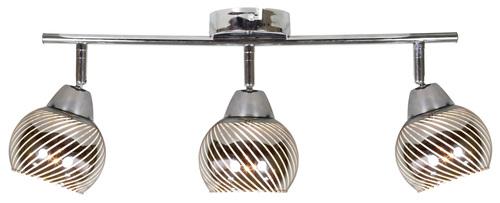 Stropní svítidlo Fort Strip 3X10W E14 Led Chrome