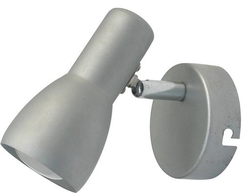 Nástěnná lampa Picardo 1X40W E14 šedá stříbrná