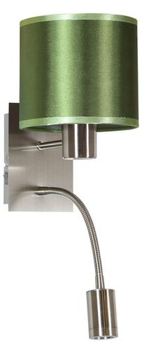 Nástěnná lampa Sylwana 1X40W E14 + LED se spínačem Chrome / tmavě zelená