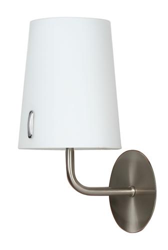 Nástěnná lampa L&H Muscat 1 * 40W E14 nikl mat