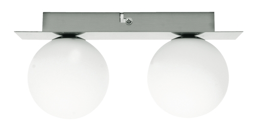 Stropní lampa Etiuda Double strip Nickel Mat 2Xg9 / 40W 230V