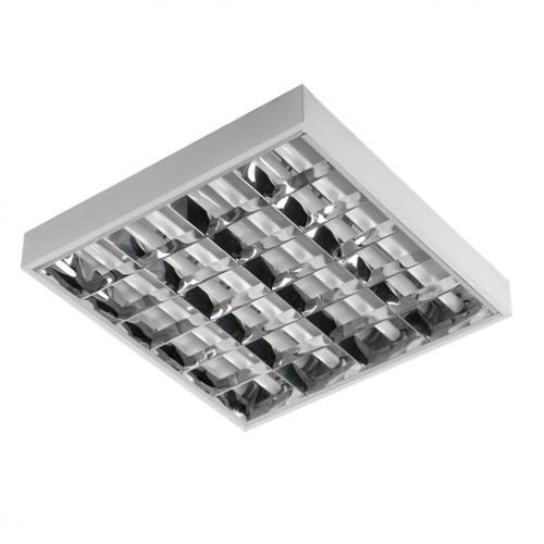 Oprawa rastrowa do świetlówek LED 4x18W natynk