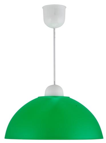 Závěsná lampa Mika plastová E27 1X60W, zelená