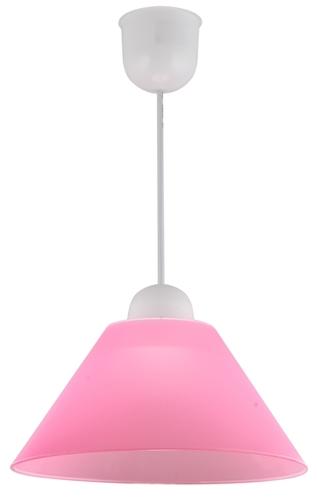 Závěsná lampa Fama plastová E27 1X60W růžová
