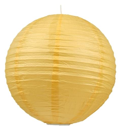 Papírová lampa - kokonová papírová koule 40 žlutá