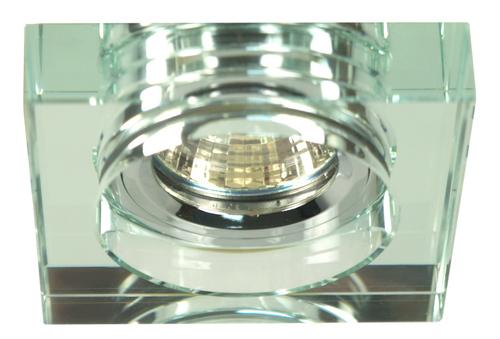 Stropní lampa SS-16 Ch / Wh Mr16 Chrome Eyelet. Strop. Pevné čtvercové čiré sklo