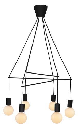 Alto závěsná lampa 6X40W E27 matná černá