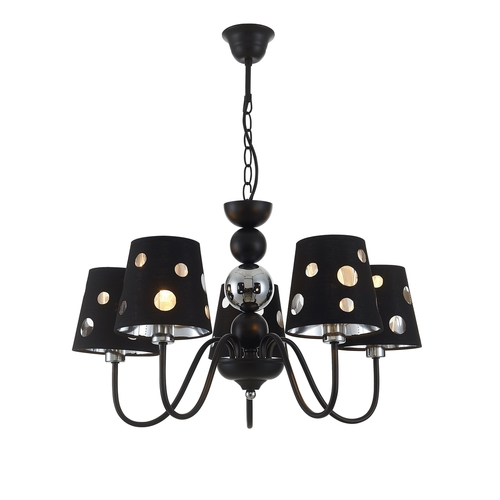 Závěsná lampa Batley 5 Black