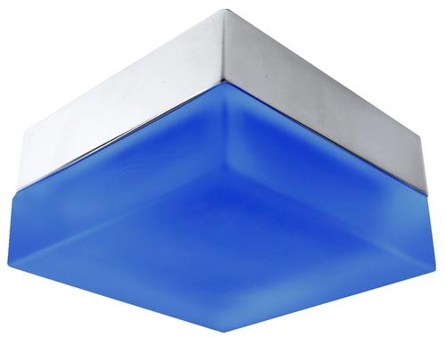 Sh-03 Sn + B Mr16 Satin Nickel + Blue Binding Herm Ip44