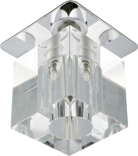 Sk-18 Ch / Wh G4 Chrome zapuštěný strop, fixní krystal 20W G4 transparentní