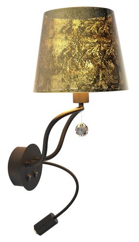 Nástěnná lampa Saria 1X6W E14 Led + 8W Led Black Gold Apeti