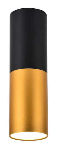 Stropní lampa Tuba 1X15W Gu10 5,8 / 20 černá a zlatá
