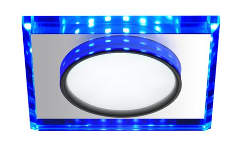 Ssp-22 Ch / Tr + Bl 8W LED 230V kruhové LED modré očko stropní stropní svítidlo pevné čtvercové sklo průhledné