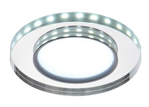 Ssp-23 Ch / Tr + Wh 8W LED 230V kruhové LED stropní bílé stropní stropní svítidlo pevné kulaté sklo průhledné