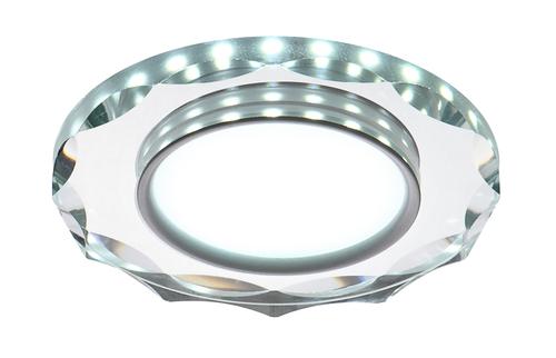 Ssp-25 Ch / Tr + Wh 8W LED 230V kruhové LED stropní stropní svítidlo s kulatým brusným sklem transparentní