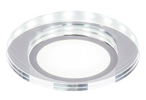 SSP-26 Ch / Tr + Wh 10W LED 230V kruhové LED stropní stropní svítidlo s kulatým brusným sklem transparentní