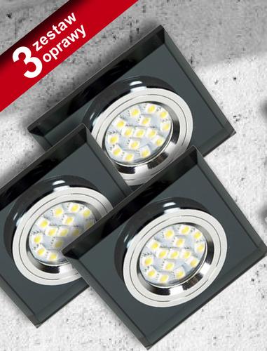 Sada tří lamp Ss-13 Ch / Bk černá 3X50W Gu10 bez žárovky
