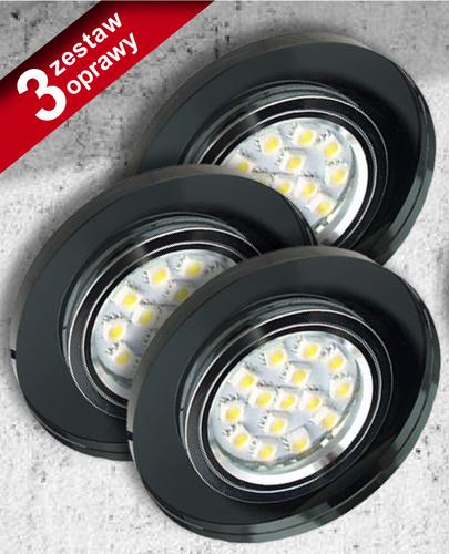 Sada tří svítilen Ss-15 Ch / Bk Black 3X50W Gu10 bez žárovky