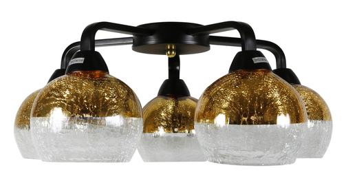Stropní lampa Cromina Gold 5X60W E27 černá