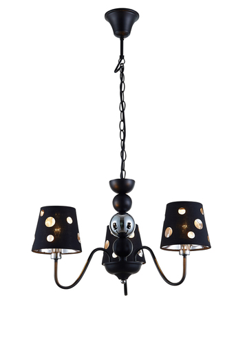 Závěsná lampa Batley 3 Black