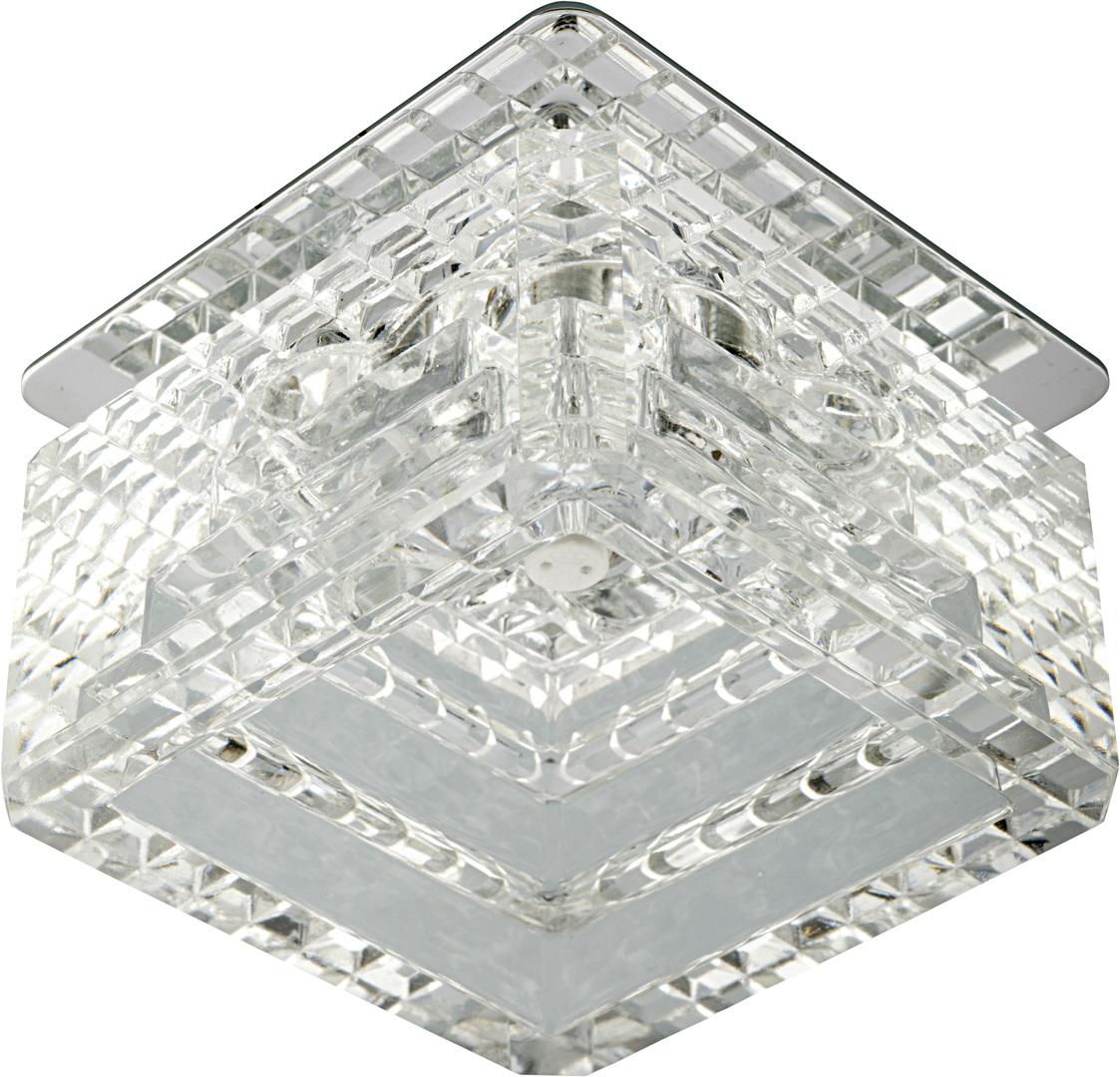 Sk-50 Ch / Wh G4 Stropní masivní 20W krystal G4 Cut Cube