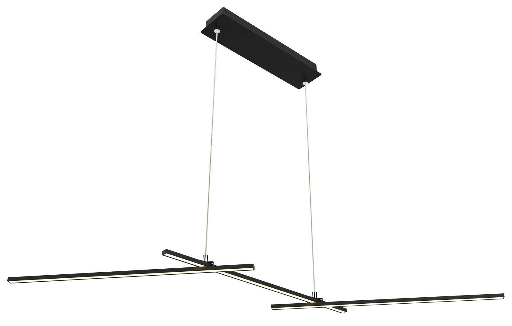 Závěsná lampa Thasos 103X23 23W LED černá 4000K Apeti