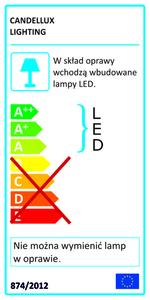 Nástěnná lampa Olly 4W + 3W Led + USB nabíječka bílá small 1