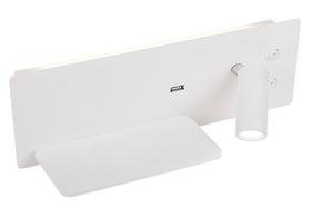 Nástěnná lampa Olly 4W + 3W Led + USB nabíječka bílá