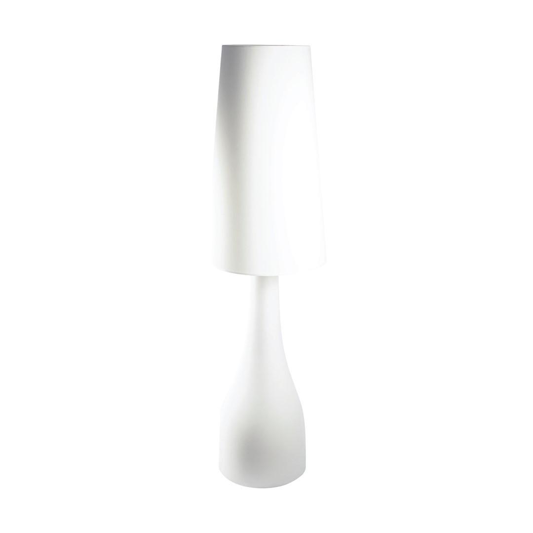 Velká bílá keramická lampa Bella