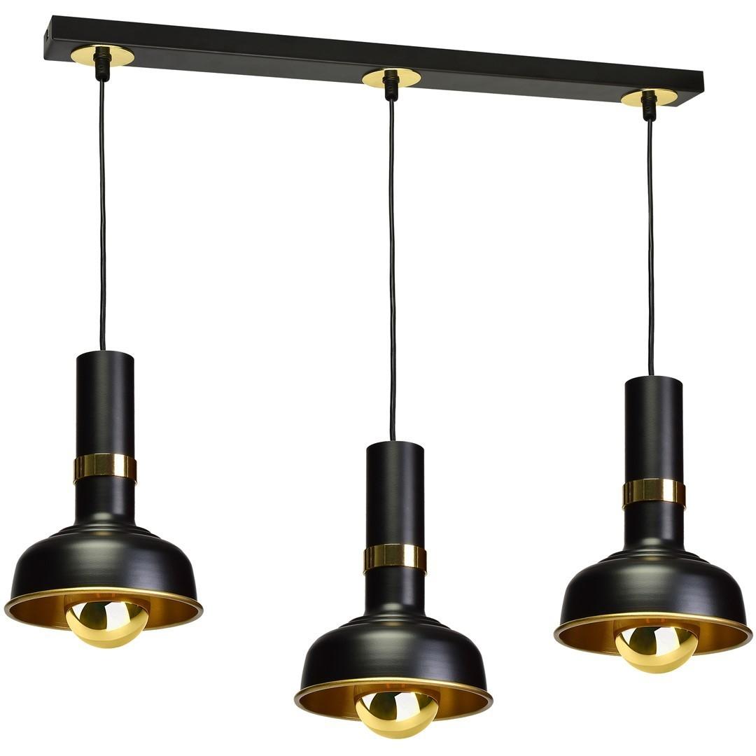 Závěsná lampa Margo Black / Gold 3x E27