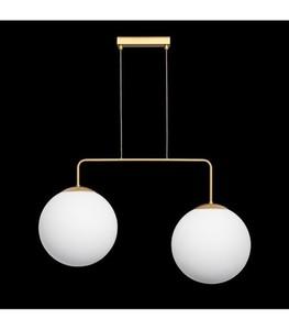 Závěsná lampa RETRO zlatá W-2 small 1
