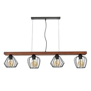 Závěsná lampa Ozzy Black / Wood 4x E27 60 W small 1