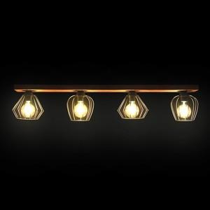 Závěsná lampa Ozzy Black / Wood 4x E27 60 W small 10