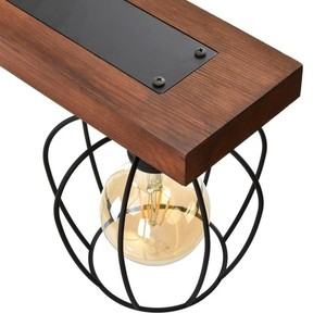 Závěsná lampa Ozzy Black / Wood 4x E27 60 W small 2