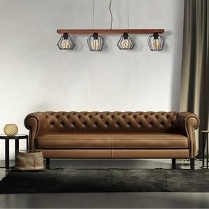 Závěsná lampa Ozzy Black / Wood 4x E27 60 W small 5