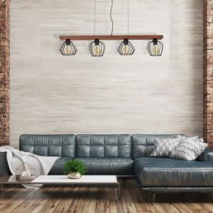 Závěsná lampa Ozzy Black / Wood 4x E27 60 W small 6