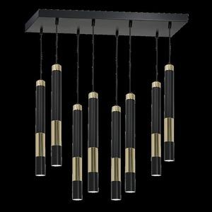 Stropní lampa Dallas Gold 8x Gu10 small 6