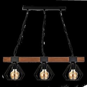 Závěsná lampa Ulf Black / Wood 3x E27 60 W small 7