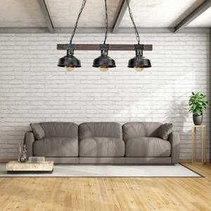 Závěsná lampa Faro Black / Wood 3x E27 60 W small 6