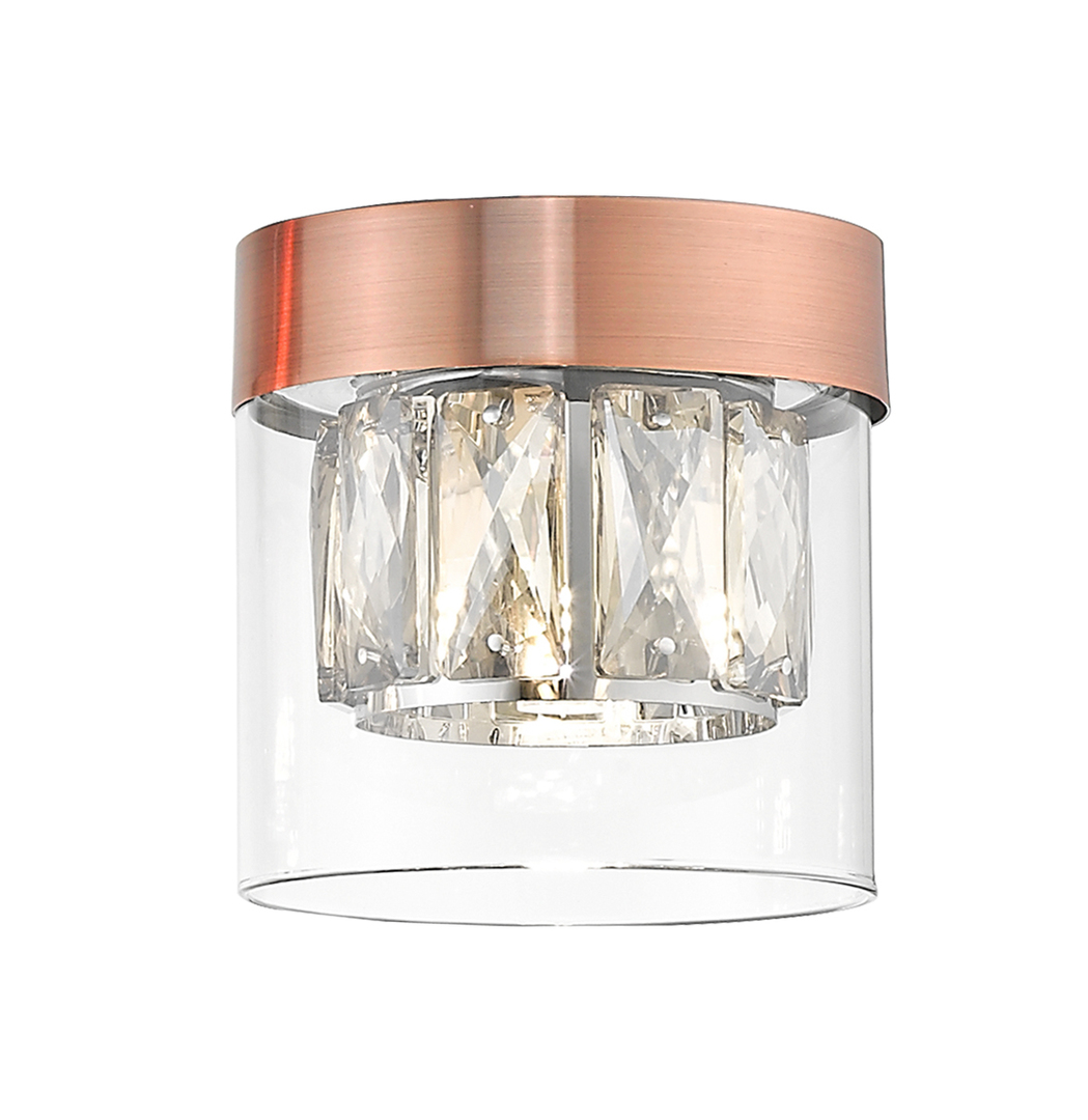 C0389 01 A L7 Ac Gem Stropní lampa měď / starožitná měď