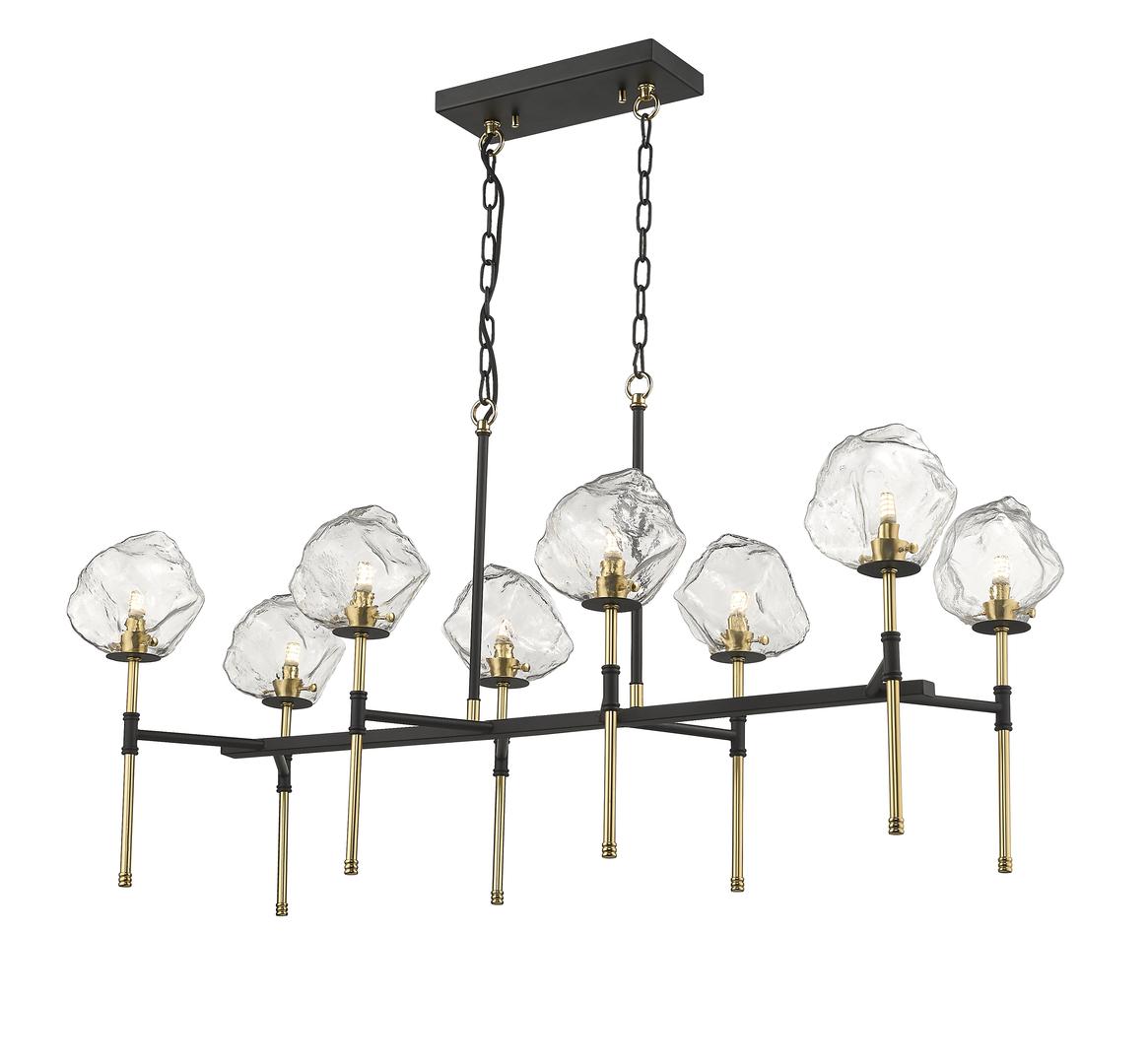 P0488 08 L Skalní závěsná lampa Seac Black + Gold / Matt Black + Matt Gold