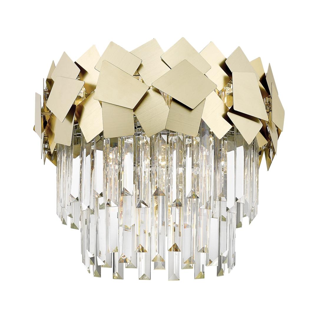 C0506 05 A B5 E3 Kvasarová stropní lampa zlato / zlato