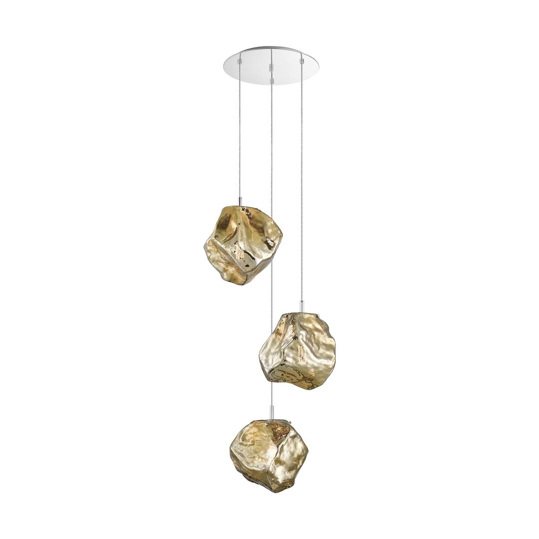 P0488 03 A B5 Hf Rocková závěsná lampa zlato / zlato
