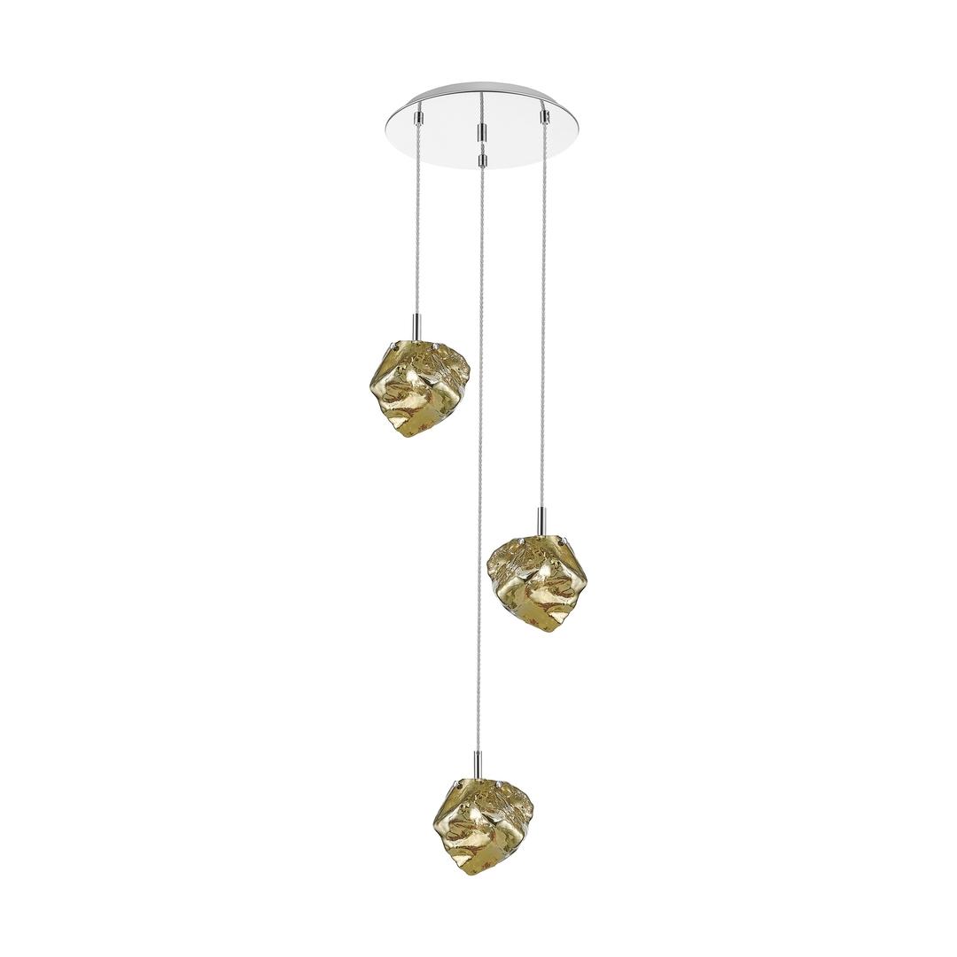 P0488 03 D B5 Hf Závěsná lampa s lampou Gold / Gold