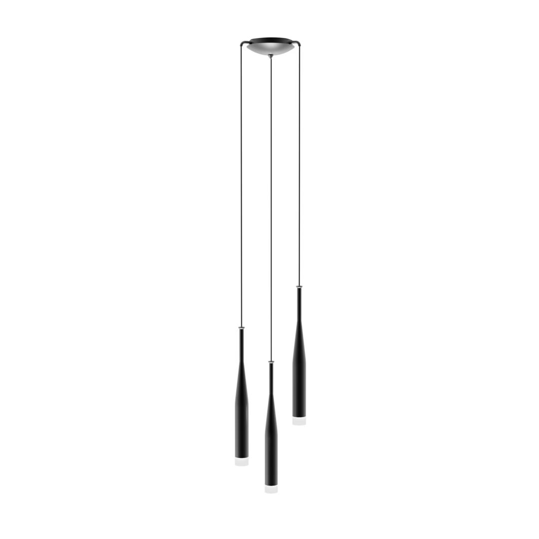 Závěsná lampa Md1998 A 3 Bl Conte Black White / Black White