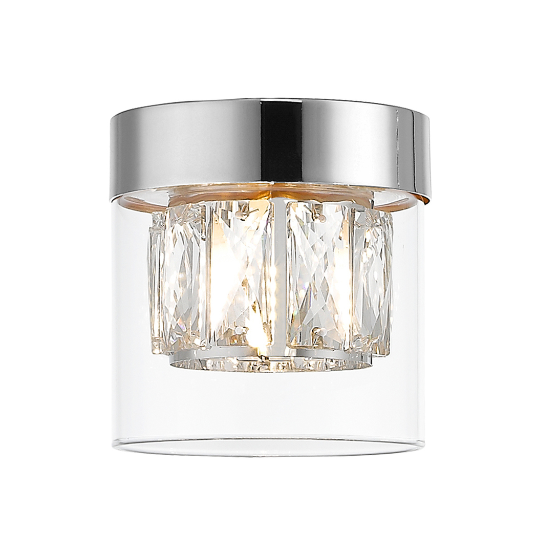 C0389 01 A F4 Ac Gem Chrome Stropní lampa