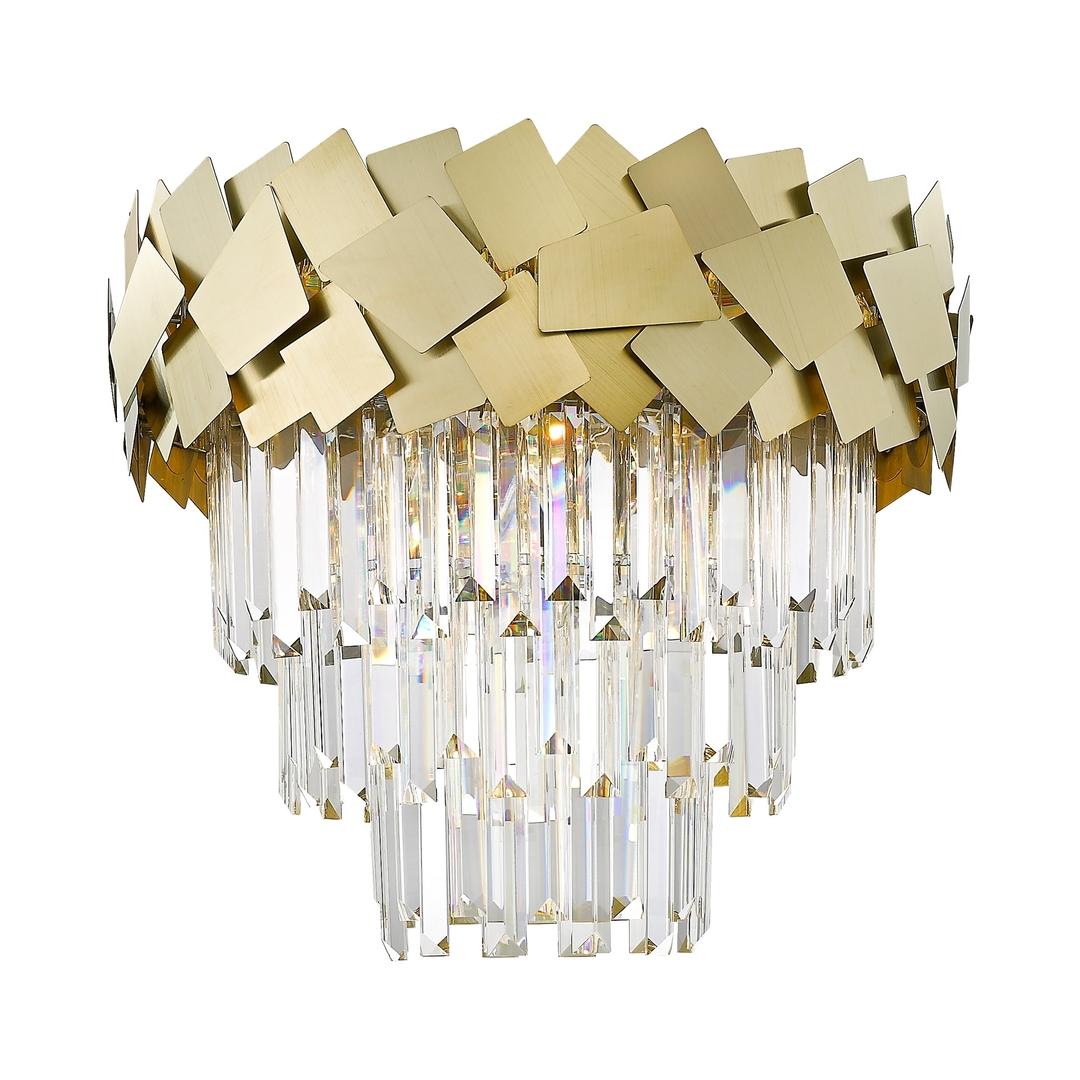 C0506 06 A B5 E3 Kvasarová stropní lampa zlato / zlato