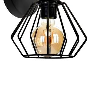 Nástěnná lampa Ulf černá / dřevo 1x E27 60 W small 2